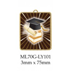 Knowledge Medals ML70G-LY01 - 63mm x 75mm