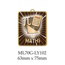 Knowledge Maths Medals ML70G-LY102 - 63mm x 75mm