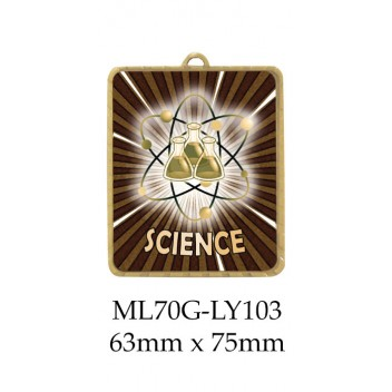Knowledge Science Medals ML70G-LY103 - 63mm x 75mm