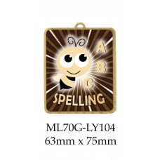 Knowledge Spelling Medals ML70G-LY104 - 63mm x 75mm