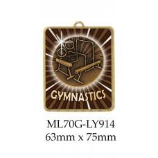 Gymnastics Medals ML70G-LY914 - 63mm x 75mm