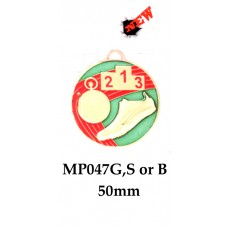 Athletics Medals MP047G,S or B - 50mm