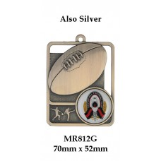 AFL Aussie Rules Medals - MR812G Also Silver