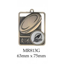 Rugby Medals MR813G, S or B - 48mm x 62mm