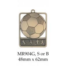 Soccer Medal MR904G, S or B - 48mm x 62mm