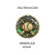 Baseball Softball Medals - MS903G,S,B-62mm