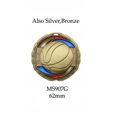 Basketball Medals MS907G - 65mm