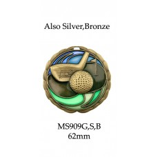 Golf Medals 63mm MS909G