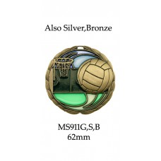 Netball Medals MS911G - 64mm