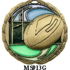 Rugby Medals MS913G - 64mm
