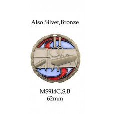 Gymnastics Medals MS914G, S or B  63mm