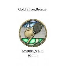 Tennis Medals MS918G  63mm