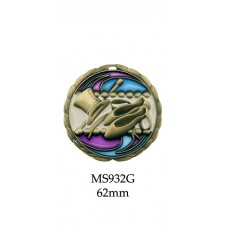 Dance Medals MS932G - 64mm