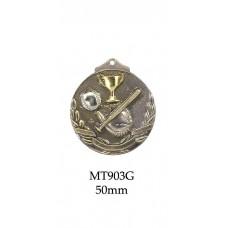 Baseball Softball Medals MT903G - 50mm