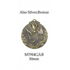 Gymnastics Medals 2 Tone MT914G,S,B - 52mm