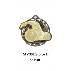 Swimming Medals MV902G, S or B  55mm