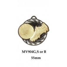 Soccer Medals MV904G, S or B - 55mm