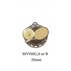 Tennis Medals MV918G,S or B  55mm