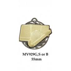 Hockey Medals MV929G, S or B - 55mm