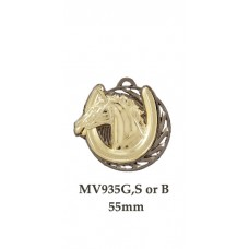 Equestrian Medals MV935G,S or B - 55mm