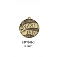 Medals Sports Day Award MW101G - 50mm