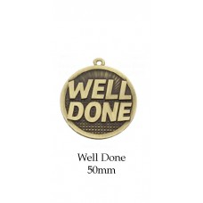Medals Well Done Award MW150G - 50mm