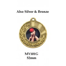 AFL Aussie Rules Medal MY101G, Also Silver & Bronze - 52mm