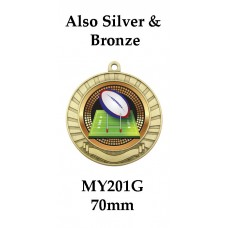 Rugby Medals  - MY201G - 70mm