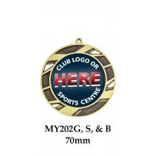 Medals Any Logo MY202G, S or B - 70mm