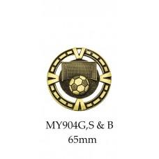 Soccer Medal MY904G,S & B - 65mm