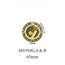 Cricket Medals MY910G,S or B - 65mm