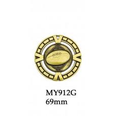 AFL Aussie Rules Medals MY912G - Also Silver & Bronze - 65mm