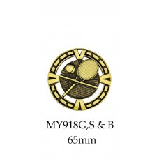 Tennis Medals MY918G,S & B