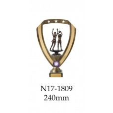 Netball Trophies N17-1809 - 240mm Also 270mm 295mm & 320mm