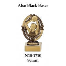 Netball Trophies N18-1710 - 96mm Also 124mm  149mm & 174mm