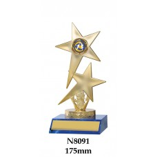 Netball Trophies N8091 - 175mm Also 200mm  225mm 250mm & 275mm
