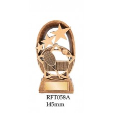 Tennis Trophies RFT058A - 145mm Also 165mm & 180mm