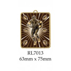 Rugby Medals RL7013 - 63mm x 75mm