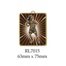 Rugby Medals RL7015 - 63mm x 75mm