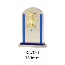 Rugby Trophies Glass RL7071 - 160mm Also 185mm & 205mm