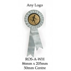 Rosettes - ROS-A-WH - 86mm x 205 - 50mm Insert