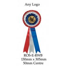 Rosettes - ROS-F-RWB - 130mm x 305 - 50mm Insert