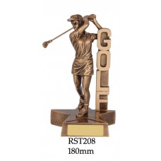 Golf Trophies Ladies RST208 - 180mm AAlso 210mm