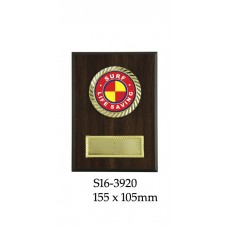 Surf Life Saving Plaque S16-3920  - 155 x 105mm