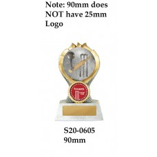 Cricket Trophies  - S20-0605 - 90mm Also 110mm & 130mm