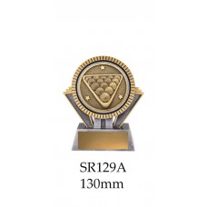 Billiards Trophies SR129A - 130mm Also 155mm & 180mm