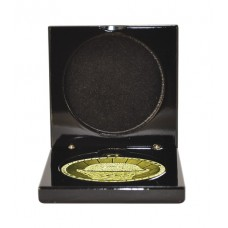 Medals Case Mirror Black Timber - 1403/1BK - 70mm x 70mm suit 50mm Medal