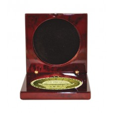 Medals Case Mirror Cherry Timber - 1403/2CH - 92mm x 92mm suit 70mm Medal
