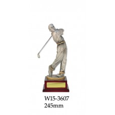 Golf Trophies W15-3607 - 245mm Also 307mm & 405mm