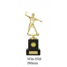 Table Tennis Trophies Female W16-5518 - 190mm